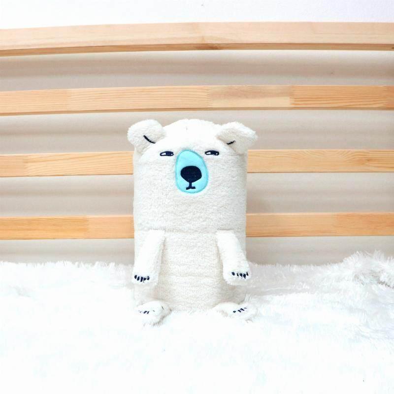 ส่งฟรี Kerry ตุ๊กตา ผ้าห่มปักหน้าสัตว์ หมี สีขาว แบบเชือกหูรูด ผ้าห่ม 3 ฟุต by josoco