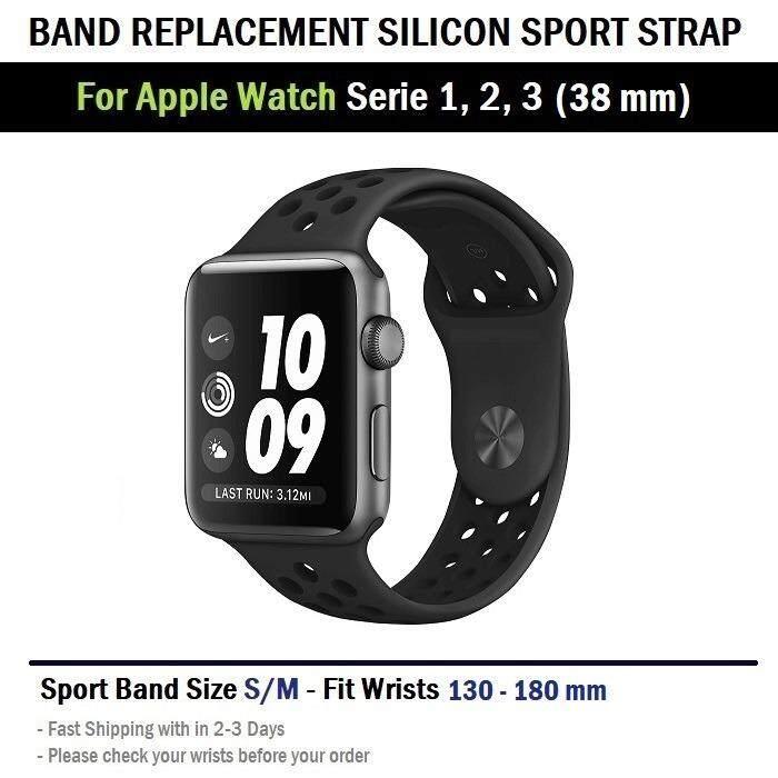 สาย Nike Sport ไซส์ S/M สำหรับ นาฬิกา Apple Watch 38 mm ทุกซีรีย์--Replacement Silicone Nike Sport Band for Apple Watch 38 mm
