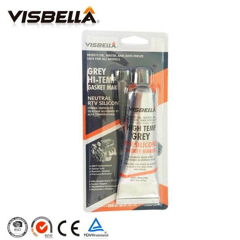 กาวปะเก็นซิลิโคนสีเทา Visbella Rtv Silicone Gasket Maker High Temperature By Wsm_thailand.