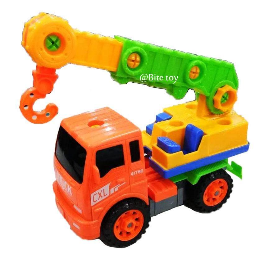 Coco Toy ของเล่น รถก่อสร้าง รถเครนก่อสร้างประกอบเองได้ Cxl200-2a By Coco Toy.