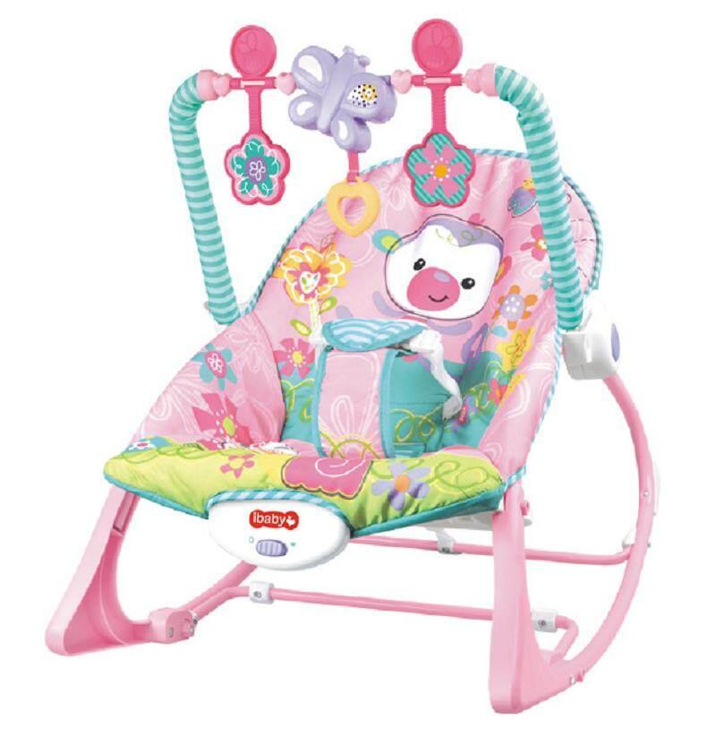 Morestech เปลโยก-สั่น มีเสียงเพลง ibaby Infant-to-toddler Rocker สีชมพู