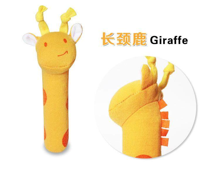 2019 Soft Sound Animal Handbells Plush Squeeze Rattle Toys For Newborn Baby Gift