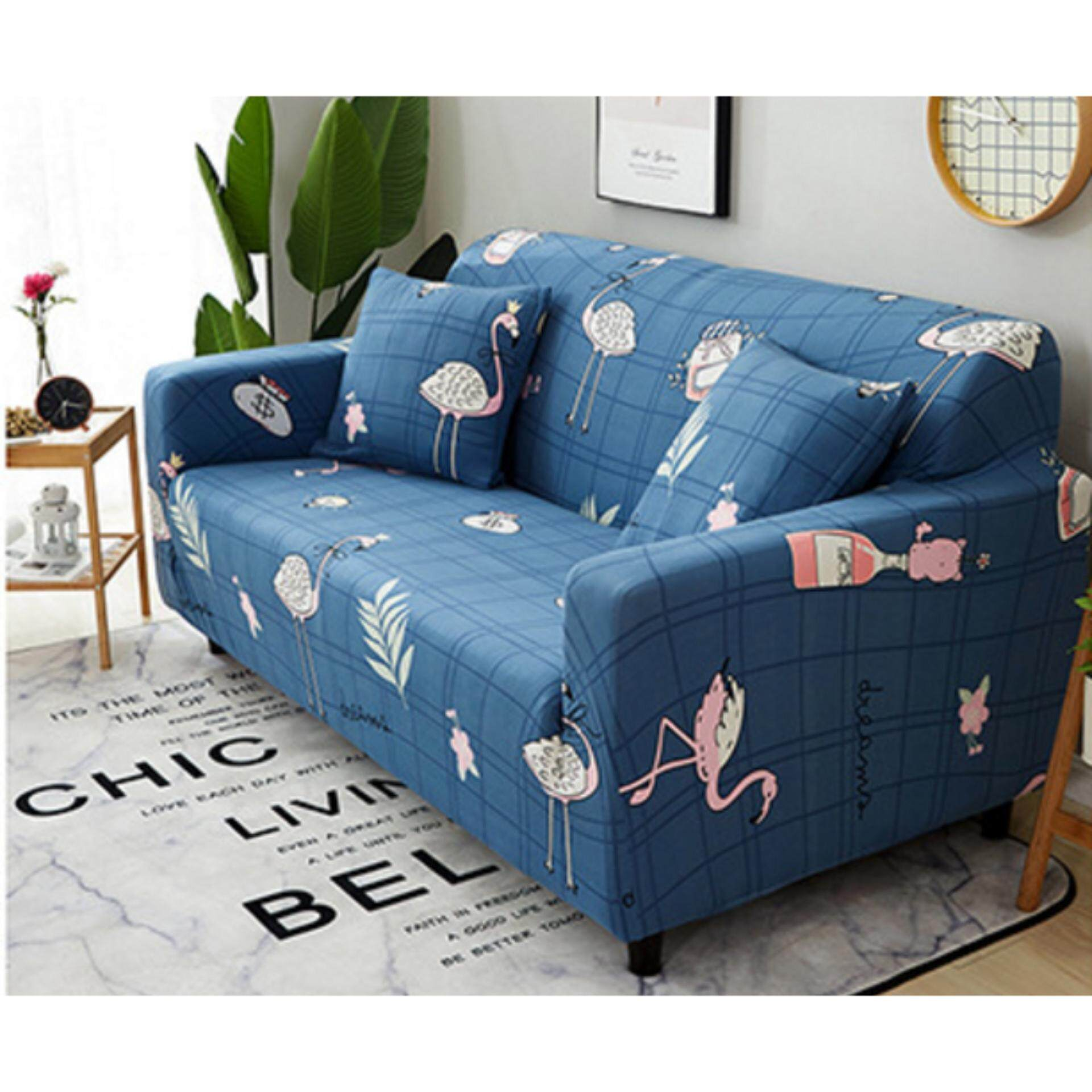 Nanarak ผ้าคลุมโซฟาsimple Four Seasons Elastic Sofa Cover (l :190-230cm) ฟรีผ้าคลุมหมอน By Nanarak.