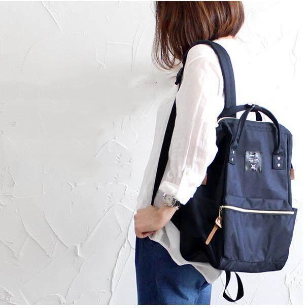 ส่วนลด ฟรีของแถมทุกใบ Japan Imported Anello ของแท้ 100 Canvas Backpack Navy Anello