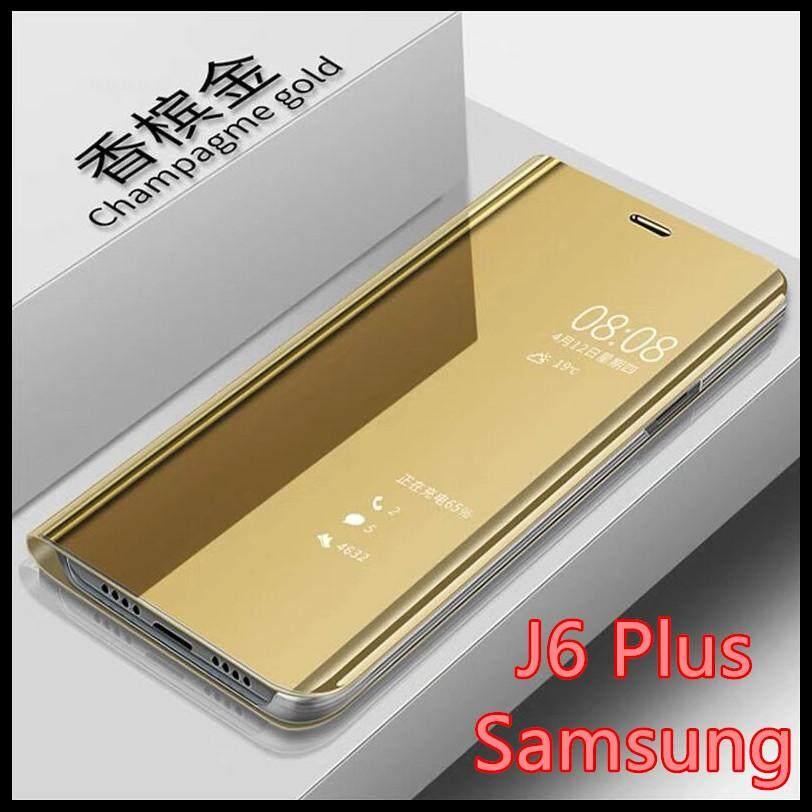 ส่งฟรี เคสเปิดปิดเงา Samsung galaxy J6 Plus Smart Case เคสกระจก เคสฝาเปิดปิดเงา สมาร์ทเคส เคสตั้งได้ ซัมซุง  galaxy j6 Plus  Sleep Flip Mirror Leather Case With Stand Holder เคสมือถือ เคสโทรศัพท์ เคสรุ่นใหม่ เคสกระเป๋า เคสเงา Phone Case