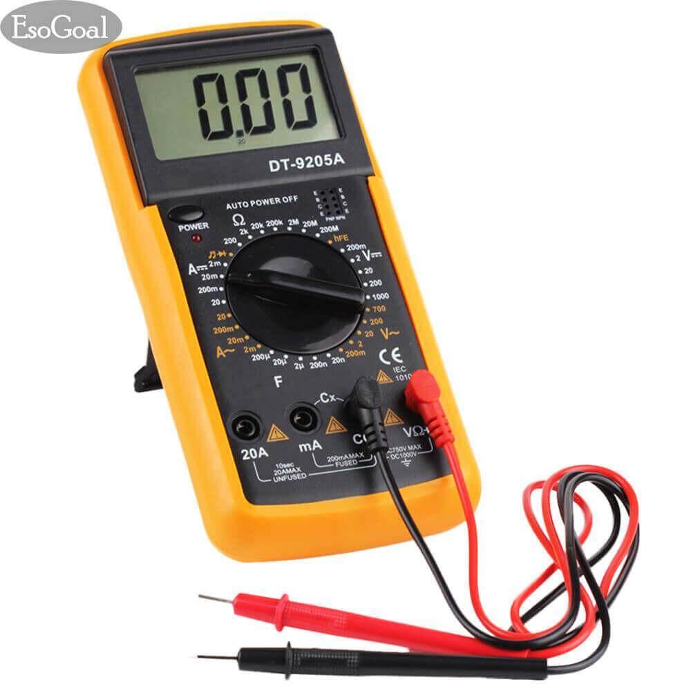 โปรโมชั่น Esogoal Digital Multimeter มัลติมิเตอร์ดิจิตอล เครื่องวัดแรงดันและกระแสไฟฟ้า เครื่องวัด โวลท์ แอมป์ Ac Dc มิเตอร์ โอห์ม ไดโอด ไตรโอด ทรานซิสเตอร์ คาปาซิเตอร์ Digital Multimeter ใน จีน