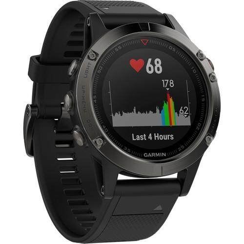 แม่ฮ่องสอน Garmin Fenix 5 Sapphire Edition Multi-Sport Training GPS Watch - [Black  Black Band]