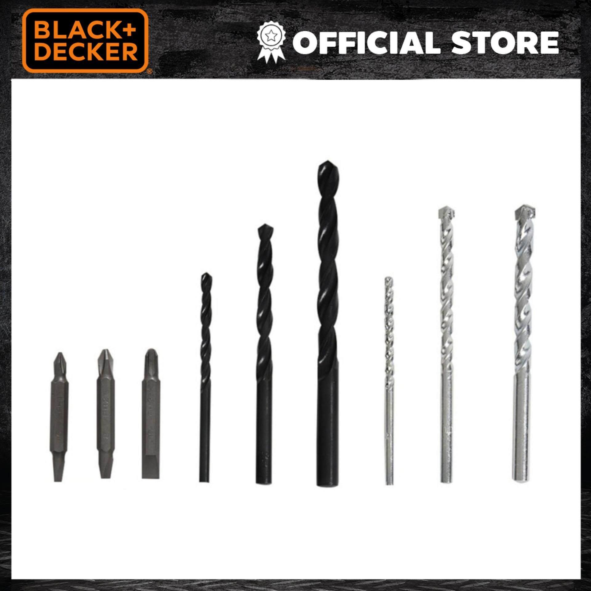 Black&Decker ชุดดอกสว่าน 9ชิ้น รุ่น 50688G
