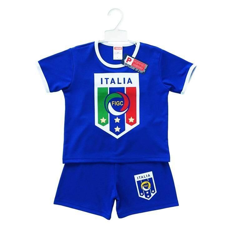 ชุดกีฬา ชุดฟุตบอล เด็กผู้ชาย ไซส์ 2, 4, 5, 6 ปี เซ็ต 2 ชิ้น เสื้อแขนสั้น กางเกงขาสั้น สีน้ำเงิน ทีมชาติอิตาลี By Oops A Daisy.