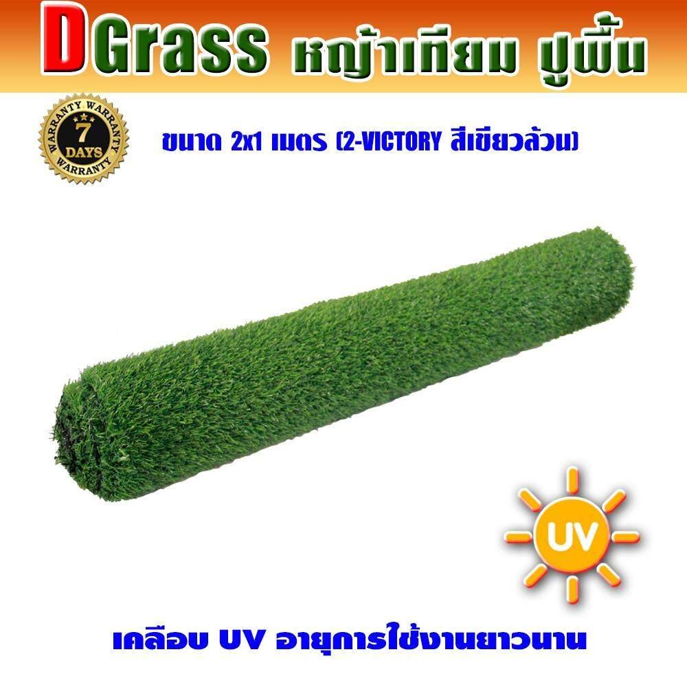 ขาย Dgrass หญ้าเทียม ปูพื้น ตกแต่งสวน ความสูง 2 ซม รุ่น Dg 2 Victory 2V เขียวล้วน ขนาด 2X1 เมตร เป็นต้นฉบับ