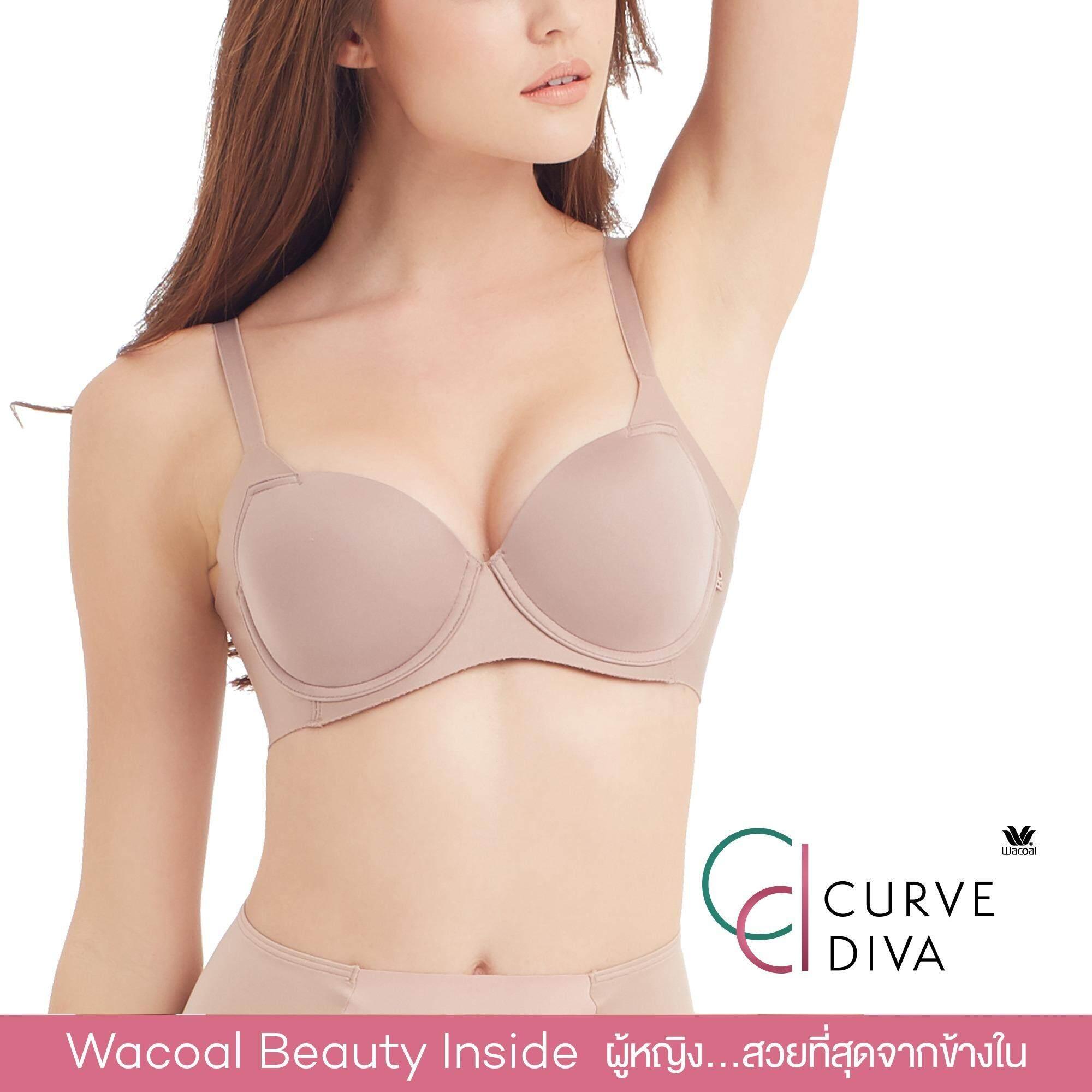 Wacoal Curve Diva Seamless bra 4/5 Cup (สีโอวัลติน/OVALTINE) - WB7914OT