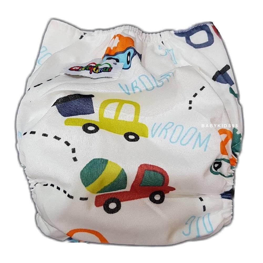 Babykids95 กางเกงผ้าอ้อม ซักได้ กันน้ำ Tpu Print+ แผ่นซับชาโคลหนา5ชั้น (size 4-15kg).