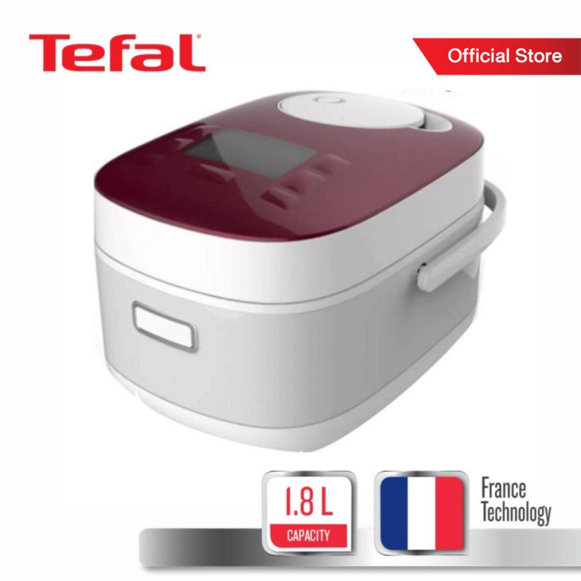 Tefal หม้อหุงข้าวไฟฟ้าระบบดิจิตอล กำลังไฟ 750 W ขนาดความจุ 1.8 ลิตร รุ่น RK8145TH -White