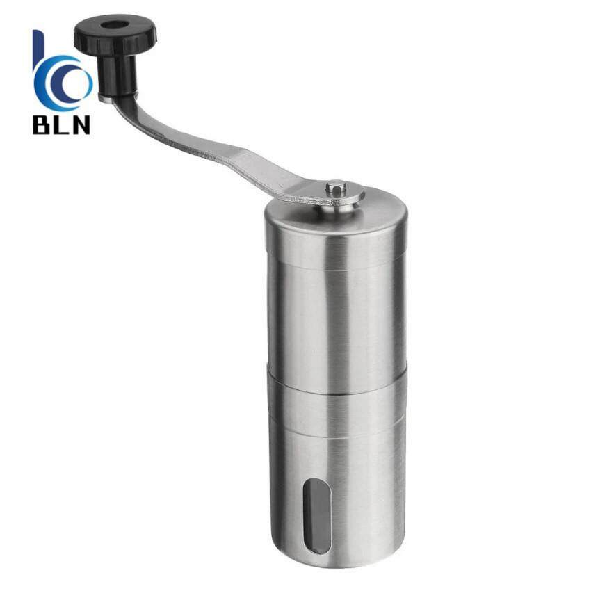 ราคา 【Bln Home】Portable Stainless Mill Steel Manual Coffee Bean Grinder Kitchen Grinding Tool ฮ่องกง