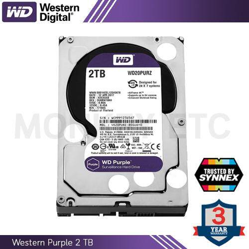 Hdd (ฮาร์ดดิสก์) Wd Purple 2.0tb (wd20purz) By Synnex By Monkey Etc.