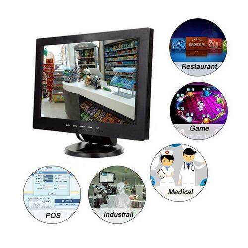Tft 12 Inch Lcd Monitor With Av/ Tv / Vga / Hdmi / Usb Input By Kmvshop.