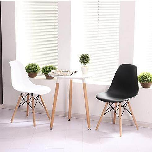 Valley Outdoor And Indoor Black Chair With Wooden Legs