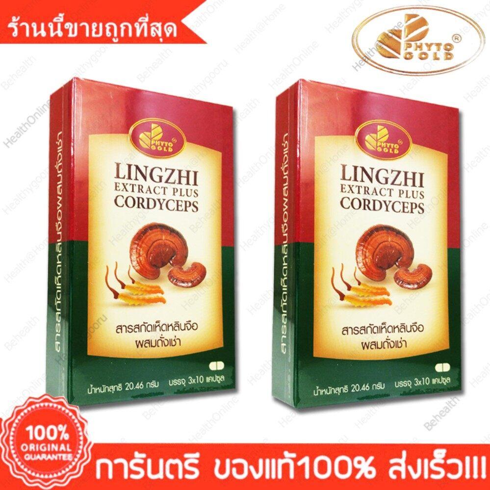 ราคา เห็ดหลินจือ สกัด ผสม ถั่งเช่า ไฟโตโกลด์ Phytogold Lingzhi Extract Plus Cordycep 30 Cap X 2 Box ที่สุด