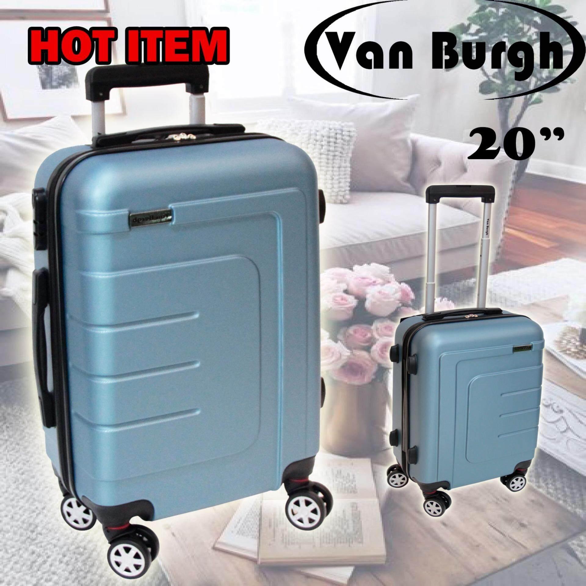 ราคา Van Burgh กระเป๋าเดินทาง 20 นิ้ว ล้อลาก 4 ล้อ รุ่น 19703 สีเทา เป็นต้นฉบับ Van Burgh