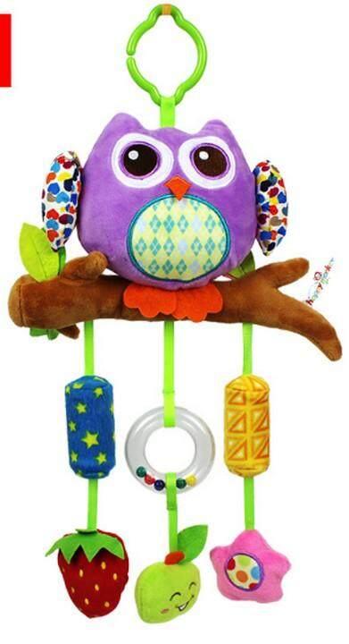 Babylanla ของเล่นเสริมพัฒนาการ โมบายกรุ๊งกริ๊ง ลายนกฮูก สำหรับแขวนเปล คอก คาร์ซีท รถเข็น ใช้ได้ตั้งแต่แรกเกิด สีม่วง