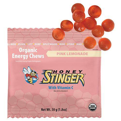 Honey Stinger Chew Organic เยลลี่ นักกีฬา รสพิงค์ (เลมอนเนด) 50 กรัม By Bike-Boulevard.
