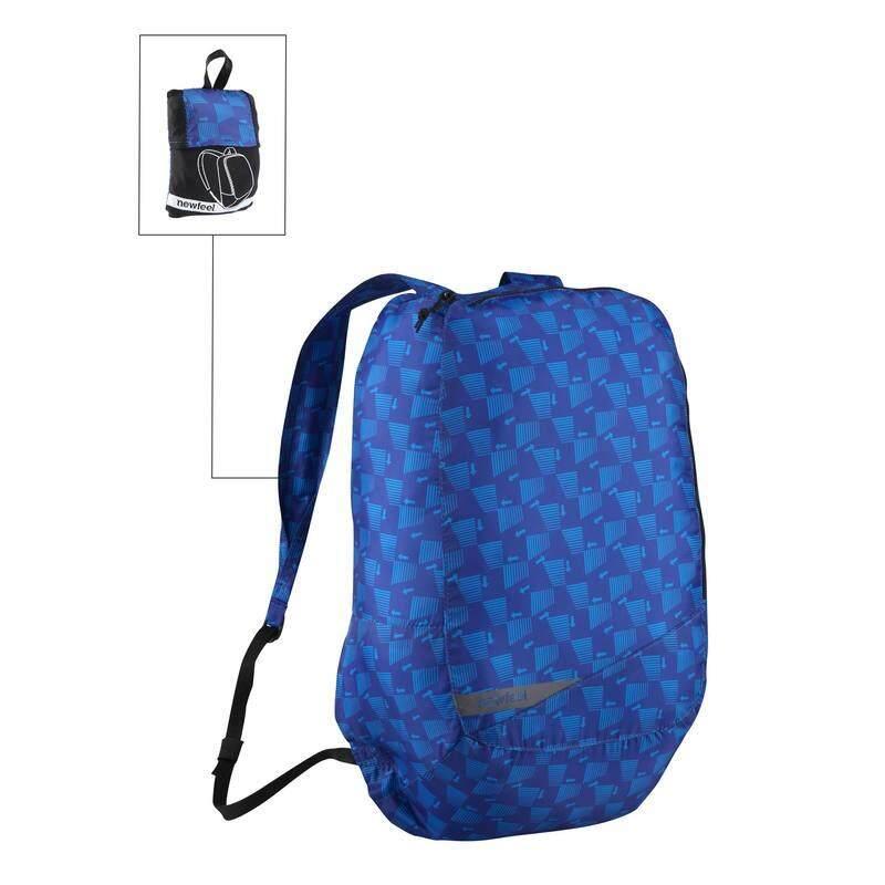 <<>>การันตีคุณภาพ<<>> เป้สะพายหลังพับเก็บได้ขนาดเล็กสำหรับการเดินในชีวิตประจำวันรุ่น Pocket Bag (สี Blue Arrow) By Konte.