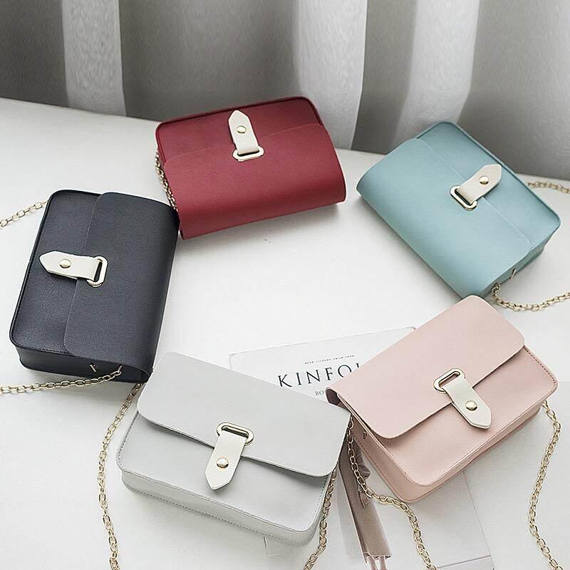 กระเป๋าถือ นักเรียน ผู้หญิง วัยรุ่น อุบลราชธานี กระเป๋าสะพายข้างสายโซ่น่ารักสไตล์คุณหนู B705