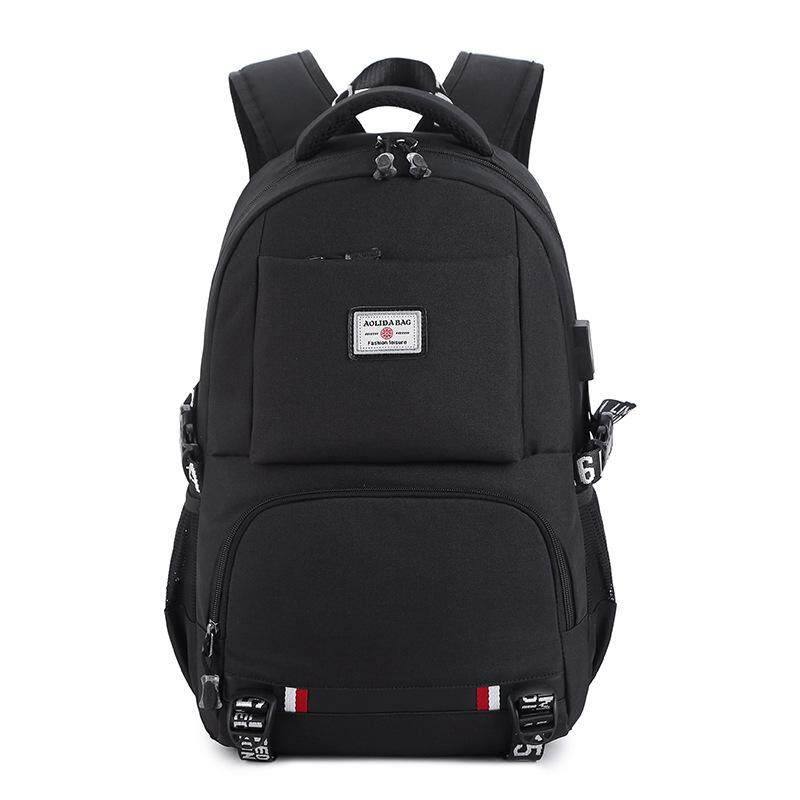 Backpack Usb Charging Backpack Leisure Travel Large Capacity Computer Bag Oxford Cloth Shoulder Student Bag Fits 14inch Laptop And Notebook By Q-Shop.
