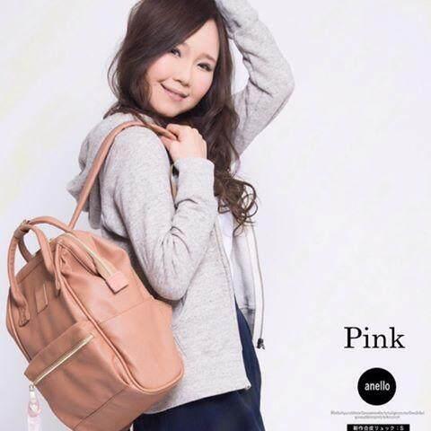 ยี่ห้อไหนดี  อุดรธานี Anello Leather Pink( Standard ) SIZE M สินค้าแท้จากญี่ปุ่น