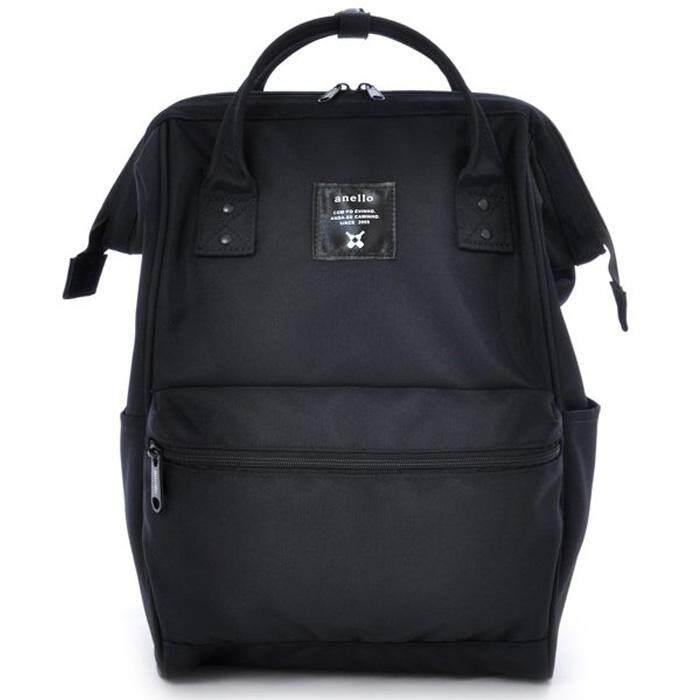สอนใช้งาน  ชัยนาท กระเป๋าเป้สะพายหลัง Anello Canvas Unisex Backpack All Black (Classic Size) - Japan Imported 100%