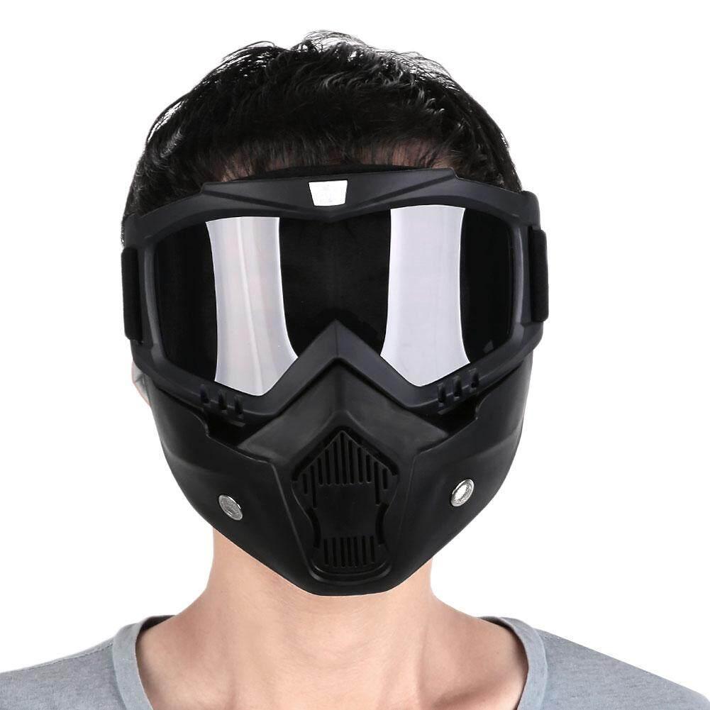 Bestprice หน้ากากขี่รถมอเตอร์ไซค์ แว่นตาและตัวกรองปากที่ปากสามารถถอดออกได้ By Bestprice2015.