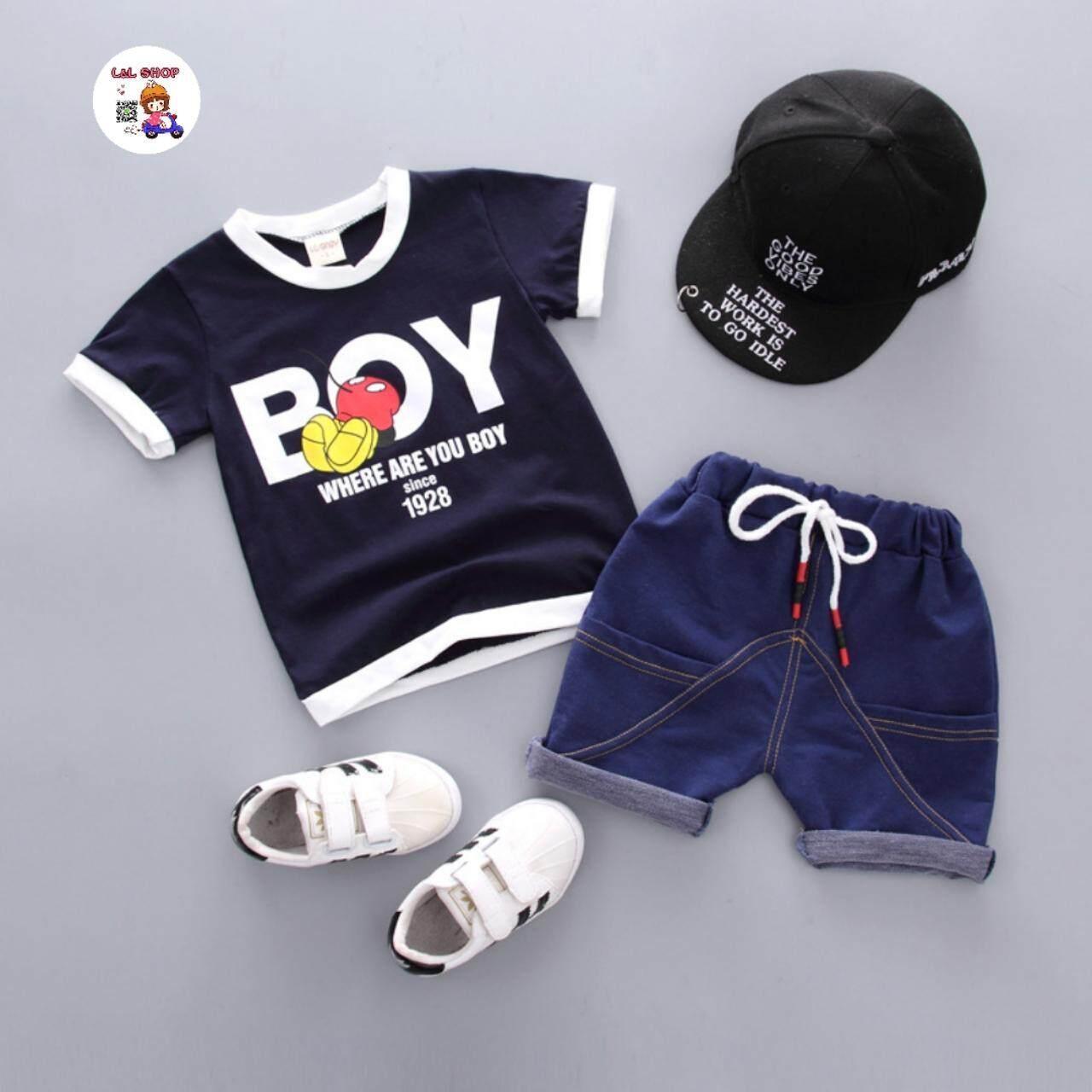 L&L SHOP เสื้อผ้าเด็ก ชุดเด็กชาย เสื้อ พร้อมกางเกง