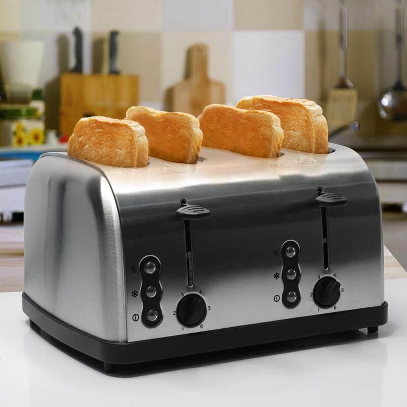 ยี่ห้อไหนดี  เชียงใหม่ Toaster เครื่องปิ้งขนมปัง เตาปิ้งขนมปัง 4 ช่อง สแตนเลส