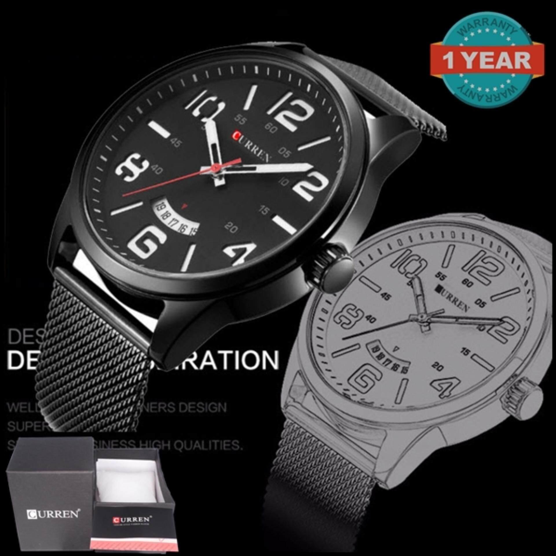 ขาย Curren นาฬิกาข้อมือสุภาพบุรุษ สายสแตนเลส รุ่น C8236 Black Black White Hands สมุทรปราการ