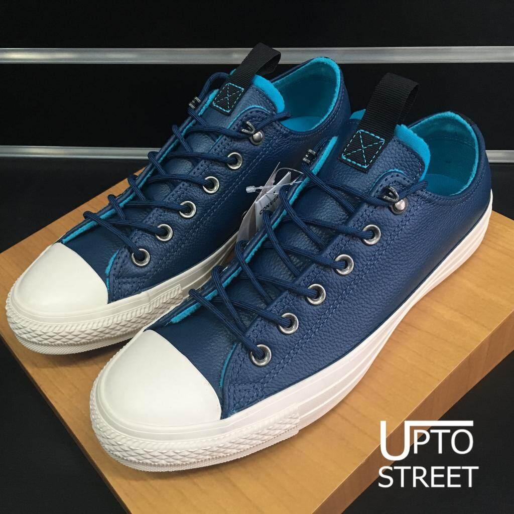 ยี่ห้อนี้ดีไหม  นราธิวาส Converse รองเท้าผ้าใบ Sneakers Converse All Star Ox - Blue หนังนิ่มสีน้ำเงิน [162389CBL]