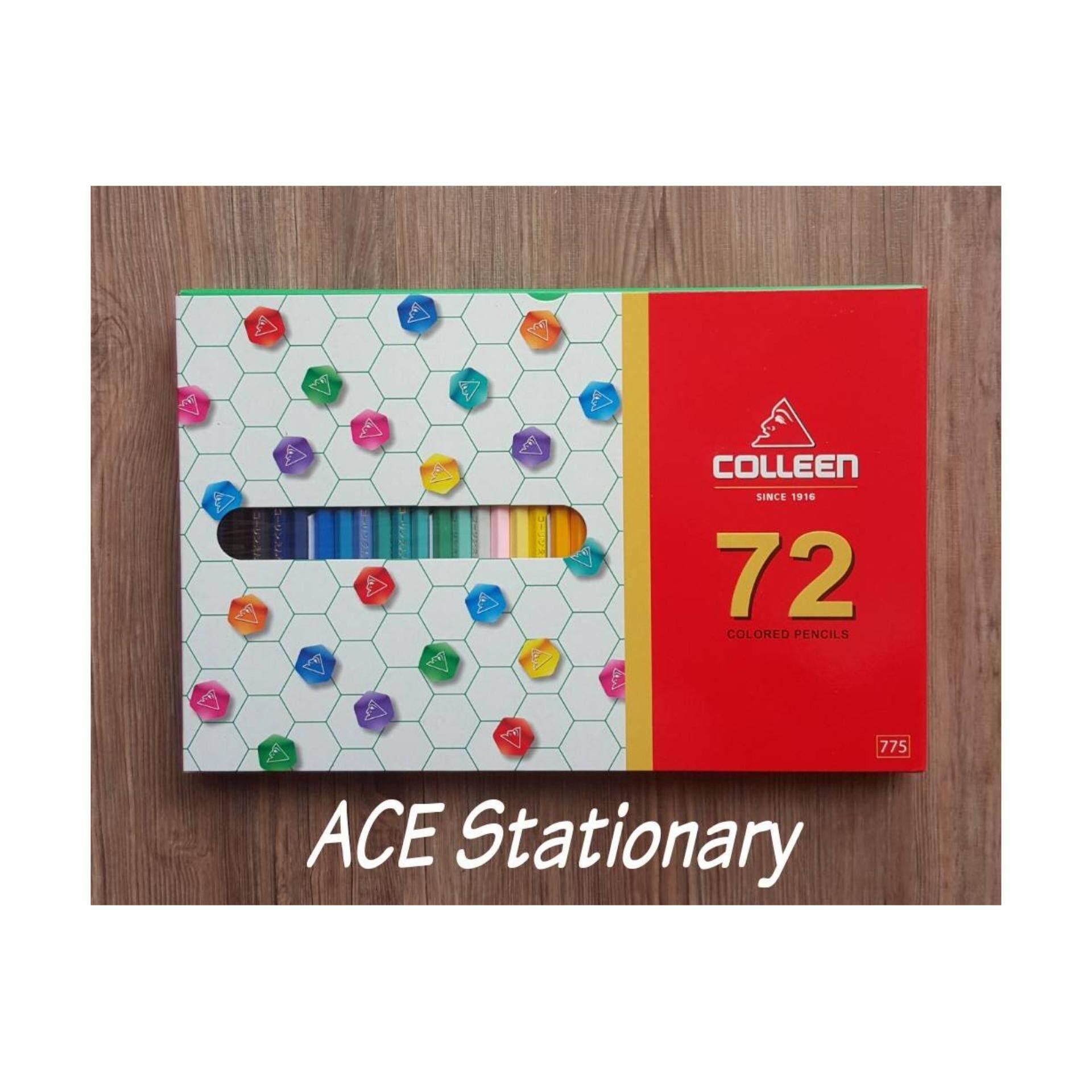 Colleen ดินสอสีไม้ คอลลีน หัวเดียว 72 สี  72 เเท่ง รุ่น775 (pastel).
