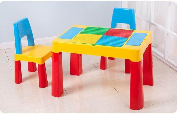 Table Set ชุดโต๊ะเลโก้ โต๊ะ1 เก้าอี้ 2 By Nikko.