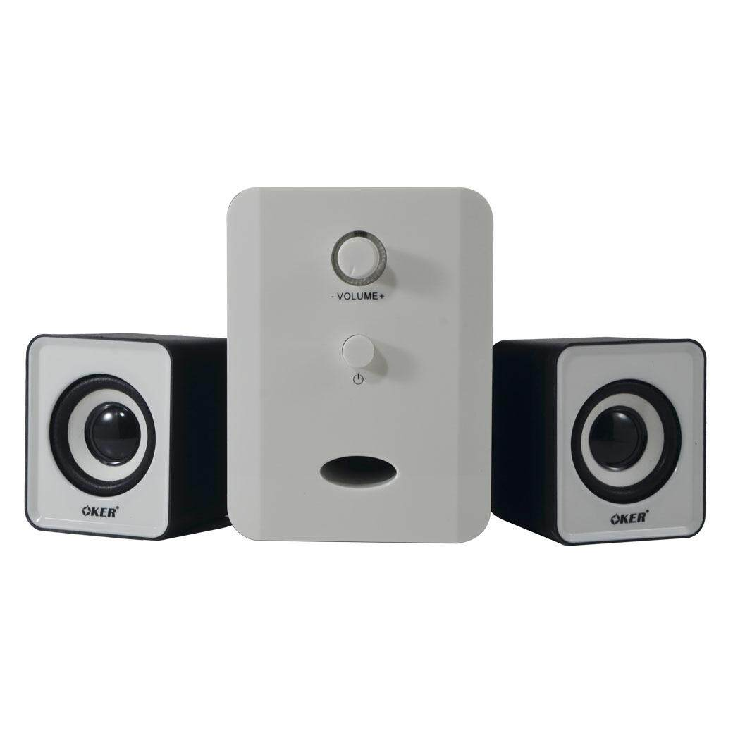 Oker ลำโพง Usb Multimedia Speaker Micro 2.1 650w Sp-835(สีขาวดำ) By 117accessries.
