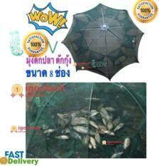igootech มุ้งดักปลา ดักกุ้ง ขนาด 8ช่อง ได้ปลาแน่นอน พับเก็บง่าย พกพาสะดวก