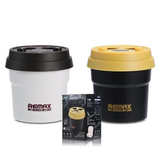 Remax Cr-2xp ช่องเสียบที่จุดบุหรี่ Usb 2 ช่อง 5v/3.1a + ช่องจุดบุหรี่ 2 ช่อง.