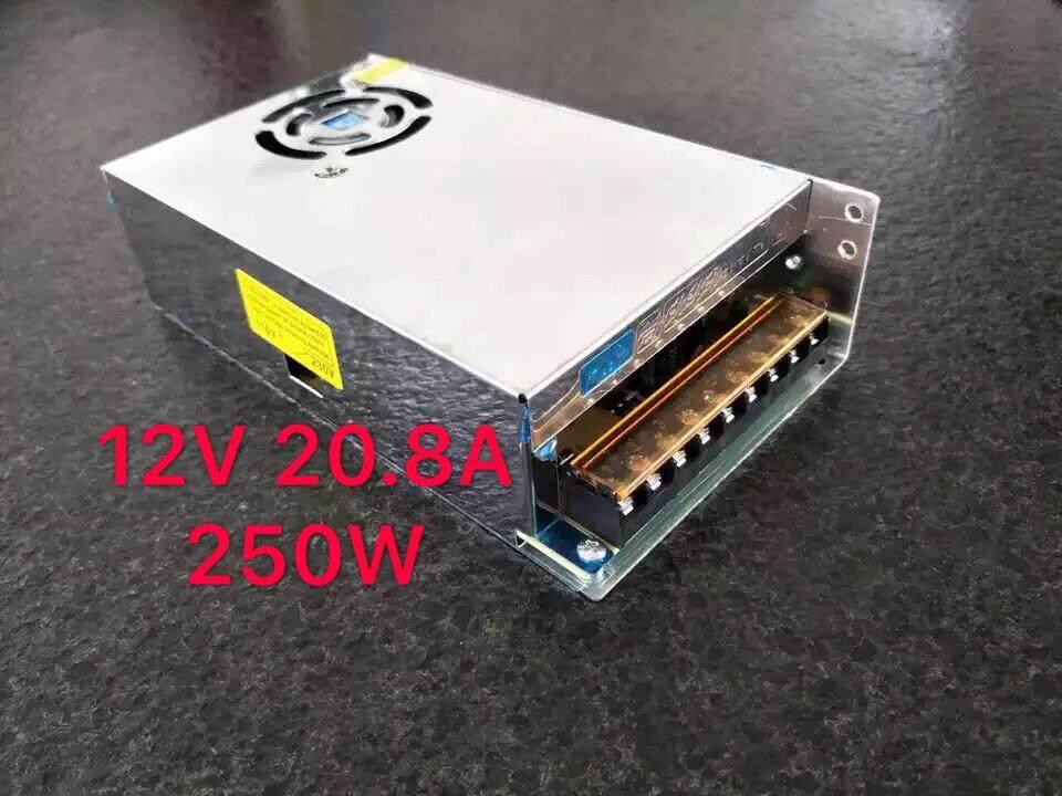 กล่องรวมไฟ Cctv (แบบรังผึ้ง) 9 ช่อง 12v 20.8a 250 Watt สำหรับกล้องวงจรปิด และไฟ Led ไม่ต้องใช้ อแดปเตอร์ Switching Power Supply.