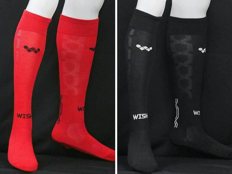 ถุงเท้าฟุตบอลเด็ก รุ่น FOCUS KIDS 2 คู่  (สีแดง 1คู่  สีดำ  1คู่)