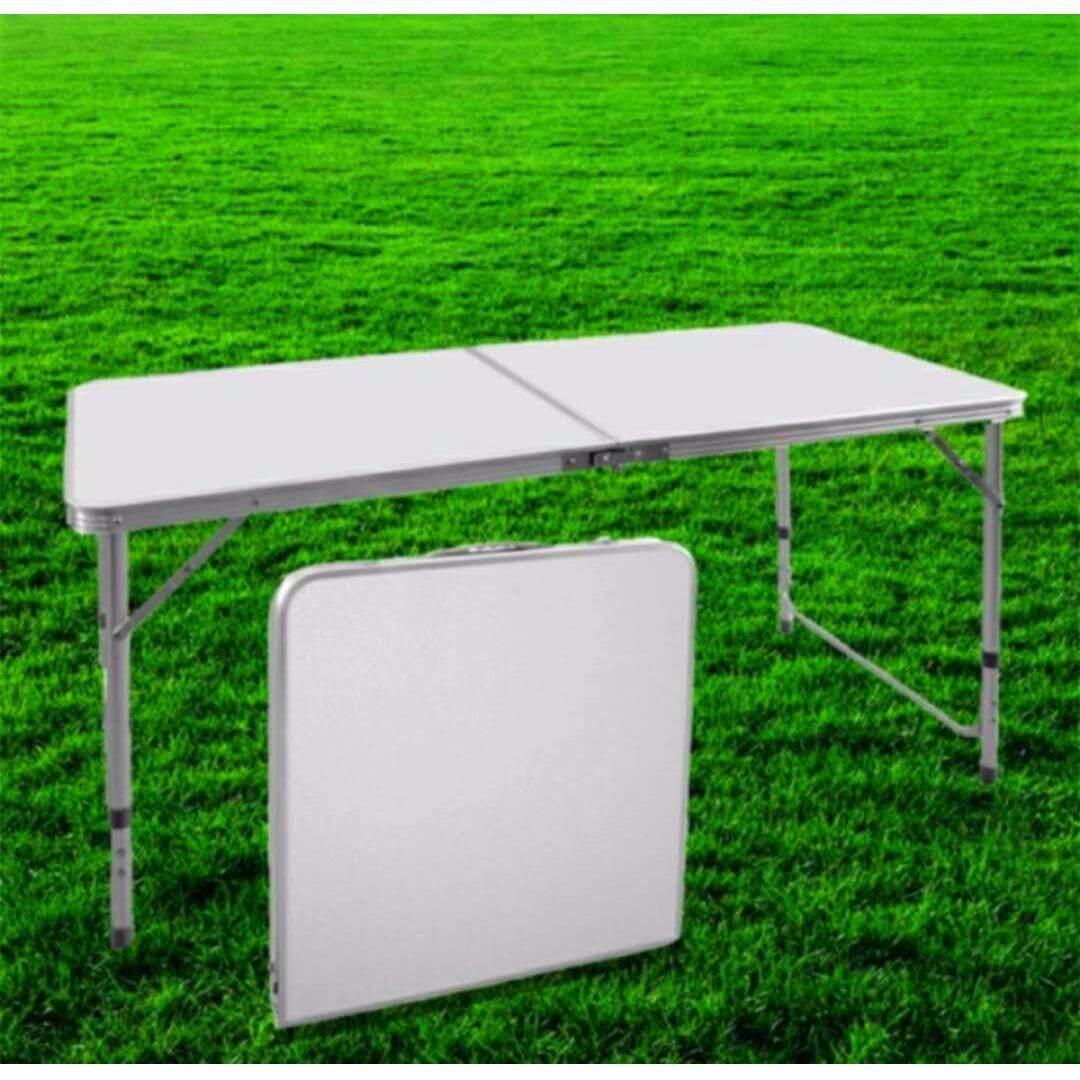 โต๊ะปิกนิกแบบพกพา พับได้ (สีขาว) By Flycothailand.