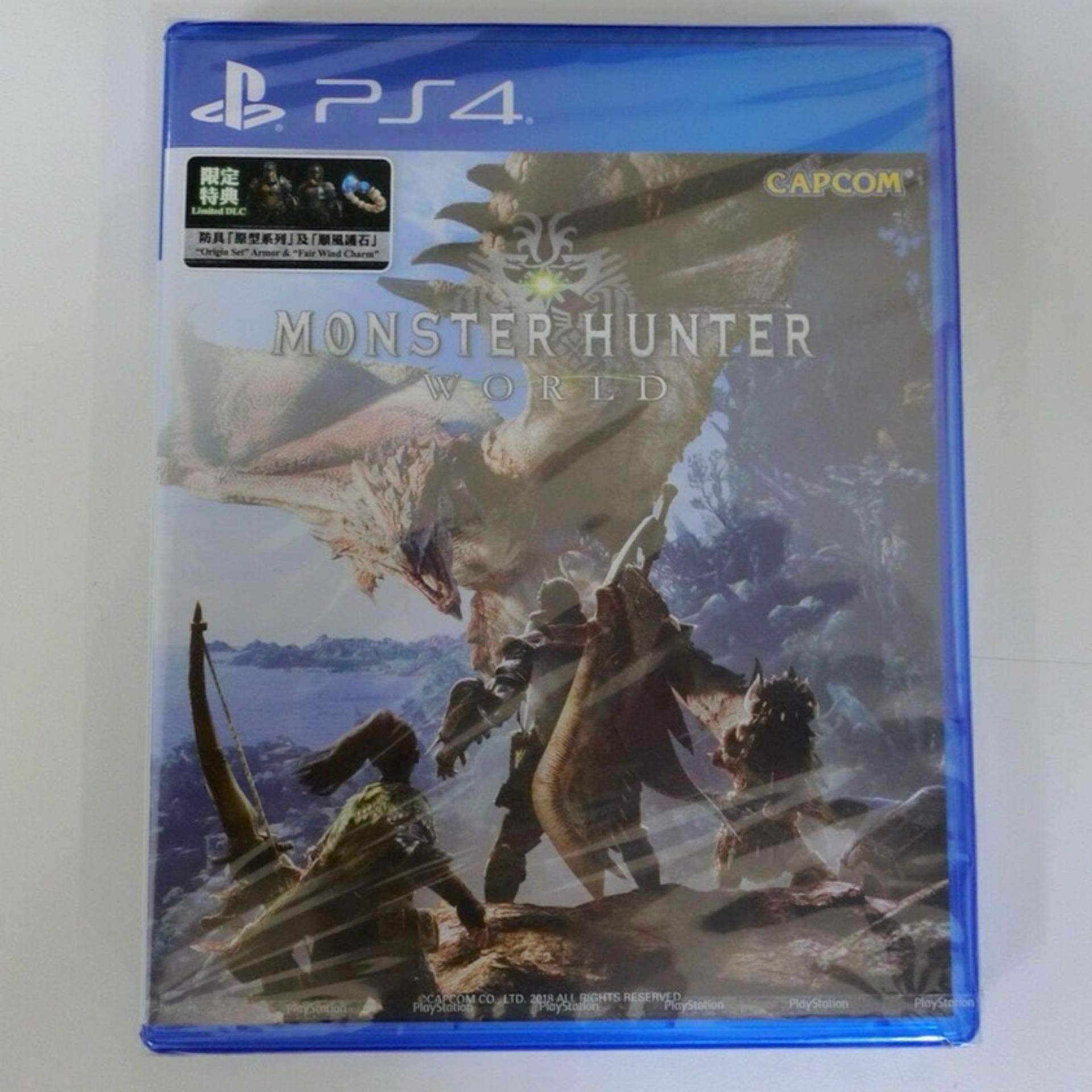 แผ่น PS4 MONSTER HUNTER WORLD (สินค้ามือ1)