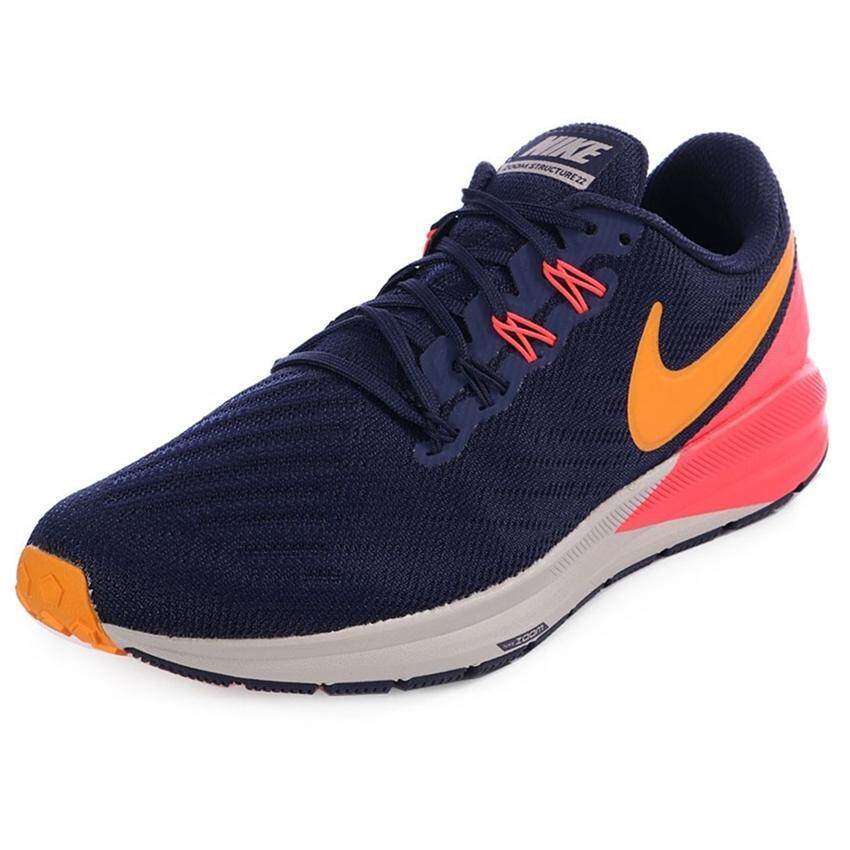37b2dac19636 Nike รองเท้าวิ่งผู้ชาย Nike Air Zoom Structure 22 AA1636-400 (Blackened Blue
