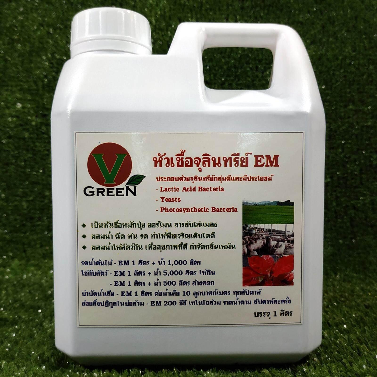V-Green หัวเชื้อจุลินทรีย์อีเอ็ม Em ขนาด 1 ลิตร By V-Green.