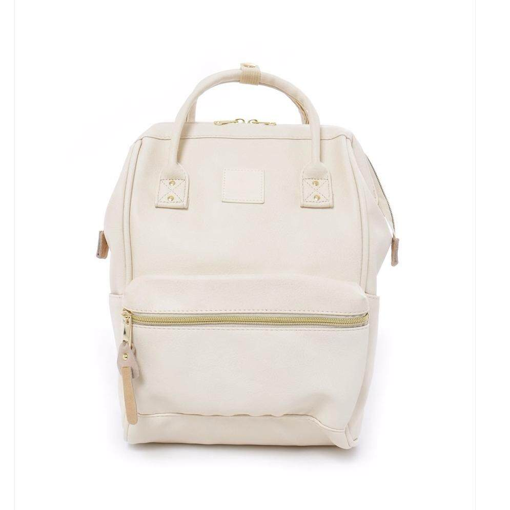การใช้งาน  สตูล กระเป๋า Anello Backpack Unisex Ivory White (Classic Size) - Japan Imported
