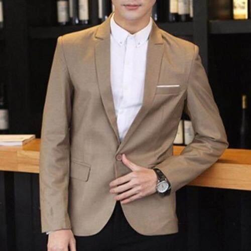 ราคา Suitinter เสื้อสูท แฟชั่น ผู้ชาย เกาหลี สีกากี เฉพาะเสื้อนอก ที่สุด