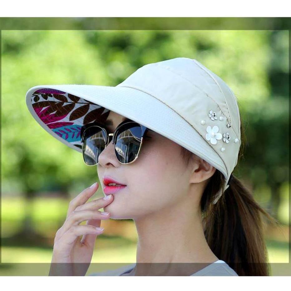 หมวกปีกกว้าง สไตล์เกาหลี หมวกป้องกัน Uv หมวกป้องกันรังสีอัลตราไวโอเลต หมวกสุภาพสตรีเวอร์ชั่นเกาหลี เป็นต้นฉบับ