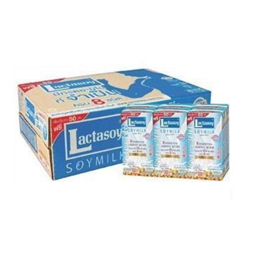 แลคตาซอย นมถั่วเหลือง Uht รส หวาน คลาสสิค ขนาด 300 Ml. (36 กล่อง).